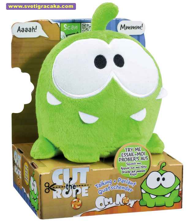 Cut The Rope Talking Om Nom, plush toy - Om Nom koji priča, plišana igračka