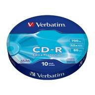 Verbatim, CD-R Extra Protection, 52x, 700MB, 80min, 10 Pack celofan