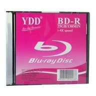 YDD, Blu-ray Disc, BD-R, 4x, 25GB, Slim Case